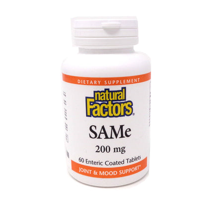 SAMe 200mg By Natural Factors - 60 Tablets