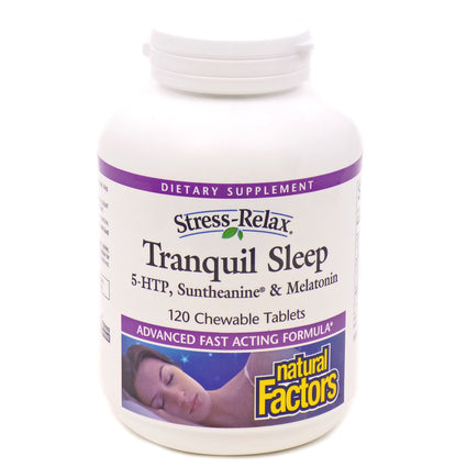 Tranquil Sleep by Natural Factors - 120 Chewable Tablets