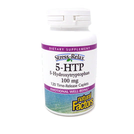 Natural Factors Stress-Relax 5-HTP 100mg -120 Time-Release Caplets