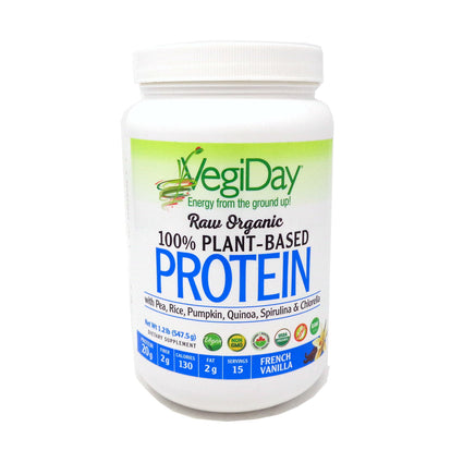 VegiDay Protein Vanilla  by Natural Factors - 15 Servings