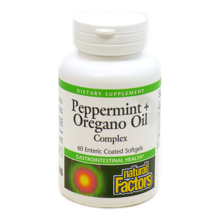 Peppermint Oil by Natural Factors - 60 Softgels
