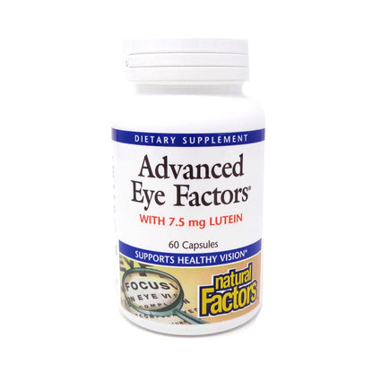 Natural Factors Advanced Eye Factors w/ 7.5 mg Lutein-60 Capsules