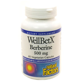 WellBetX Berberine 500 mg by Natural Factors - 60 Capsules