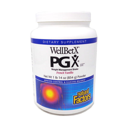 WellBetX PGX Weight Loss Shake Vanilla By Natural Factors - 1.9 Pounds