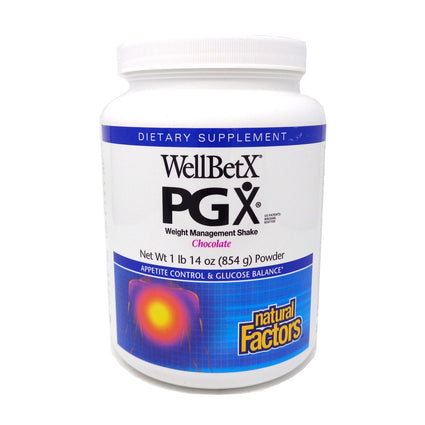 WellBetX PGX Weight Loss Shake Chocolate By Natural Factors - 1.9 Pounds