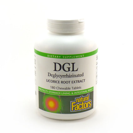 DGL by Natural Factors - 180 Chewable Tablets