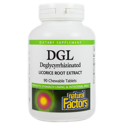 DGL, Deglycyrrhizinated Licorice Root Extract by Natural Factors - 90 Tablets