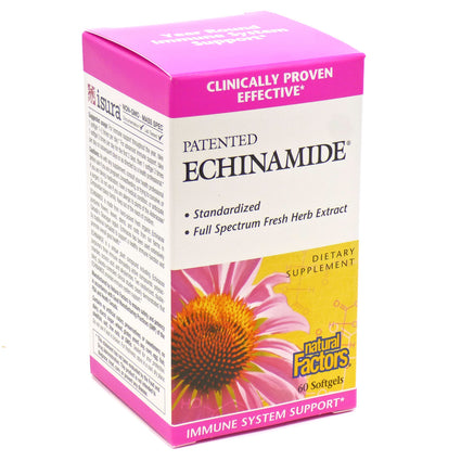 Echinamide Clinical Strength By Natural Factors - 60 Softgels