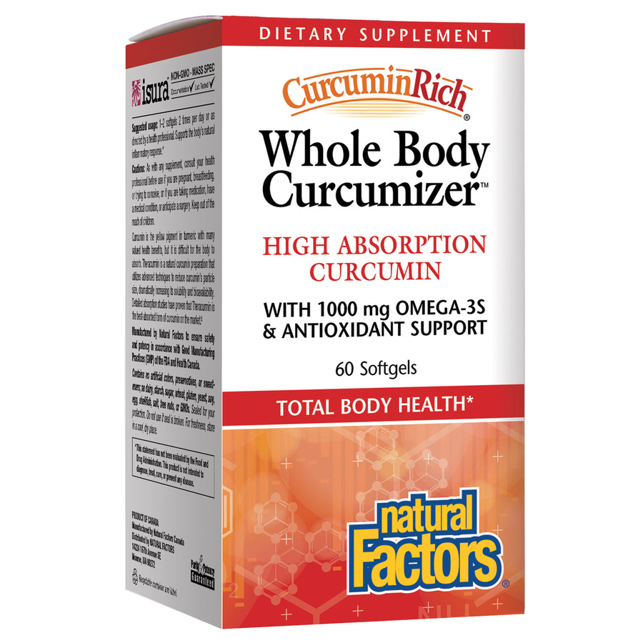 Whole Body Optimizer CurcuminRich by Natural Factors - 60 Capsules