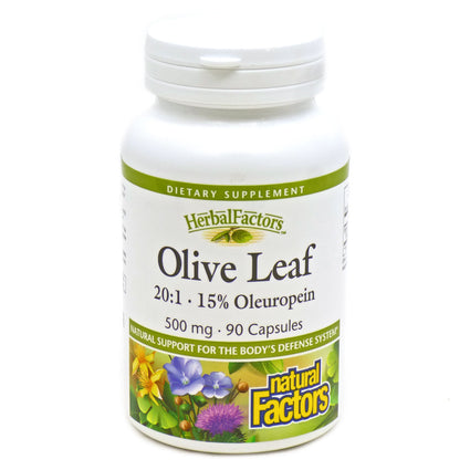Olive Leaf Extract 500mg By Natural Factors - 90 Capsules