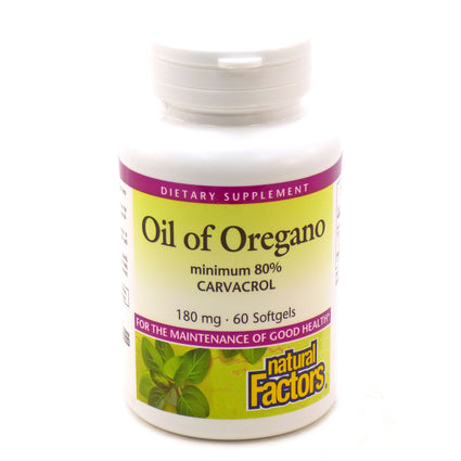 Oil of Oregano by Natural Factors - 60 Softgels