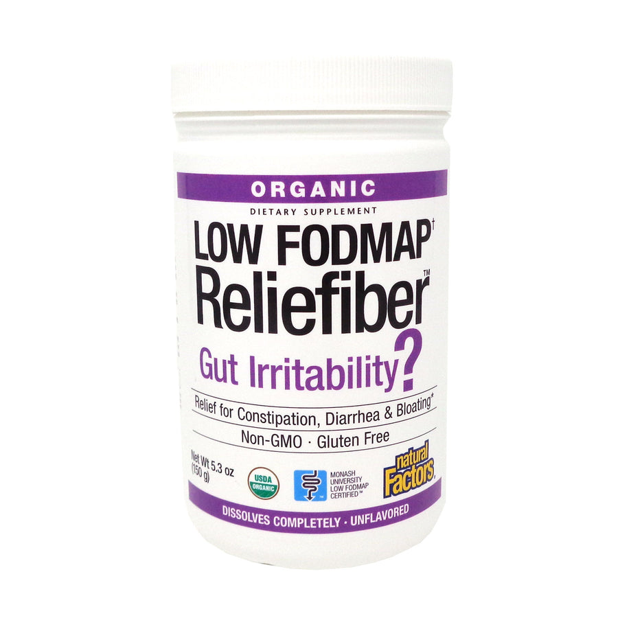 Natural Factors - Low Fodmap Reliefiber Unflavored 5.3 ounces