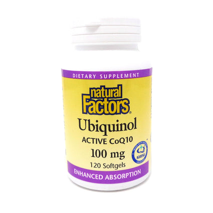 Ubiquinol QH Active CoQ10 by Natural Factors - 120 Softgels