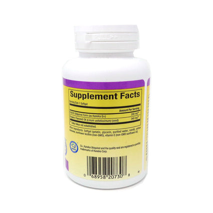 Natural Factors Ubiquinol Active Coenzyme Q10 200mg-60 Softgels