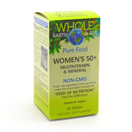 Pure Food Women's 50 + By Natural Factors Whole Earth and Sea - 60 Tablets