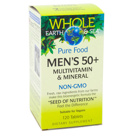 Natural Factors Mens 50 Plus Multiviamin and mineral -  120 Tablets