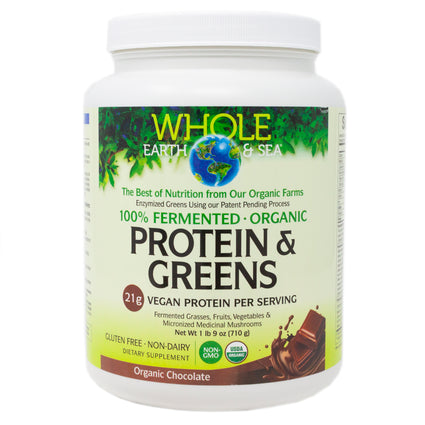 Natural Factors Protein and Greens Chocolate - 20 Servings
