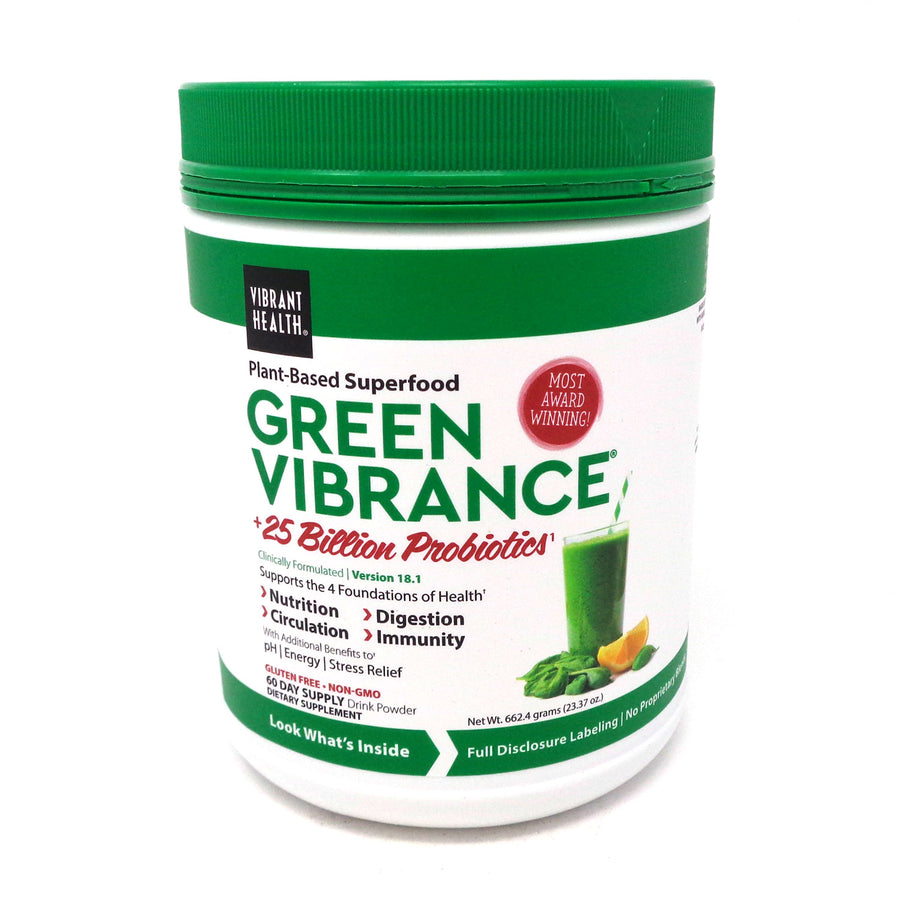 Vibrant Health Green Vibrance Plant-Based Superfood Powder - 60 Servings