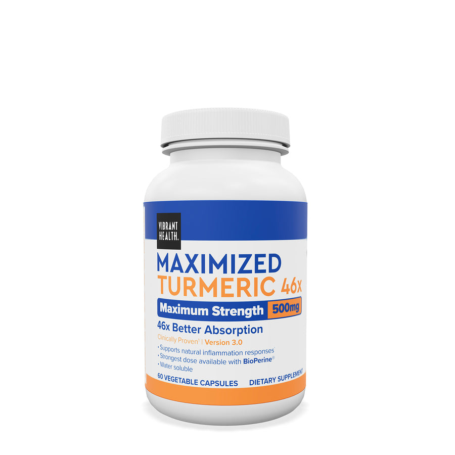 Maximized Turmeric 46x by Vibrant Health - 60 Capsules