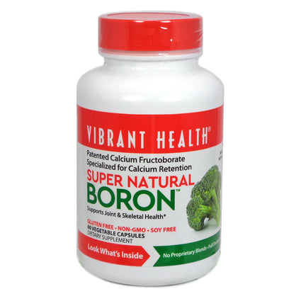 Super Natural Boron By Vibrant Health - 60 Capsules