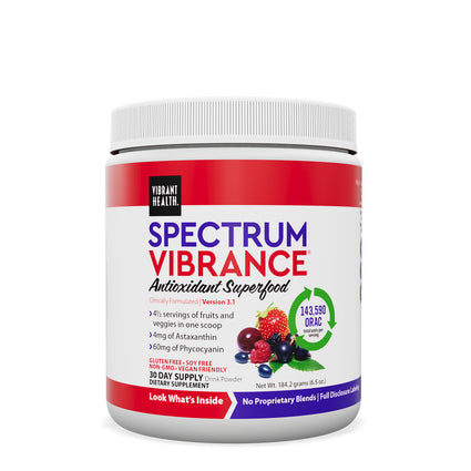Spectrum Vibrance Superfood by Vibrant Health - 30 Servings Rainbow Vibrance
