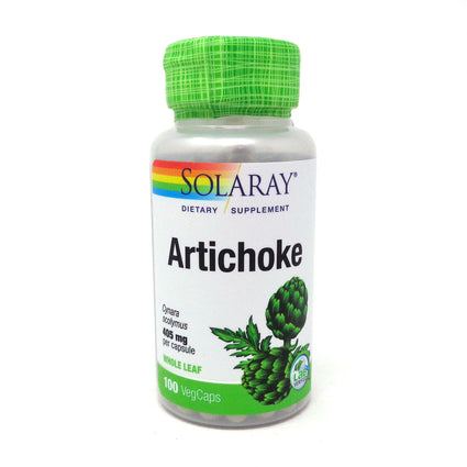Artichoke Leaves by Solaray - 100 Capsules