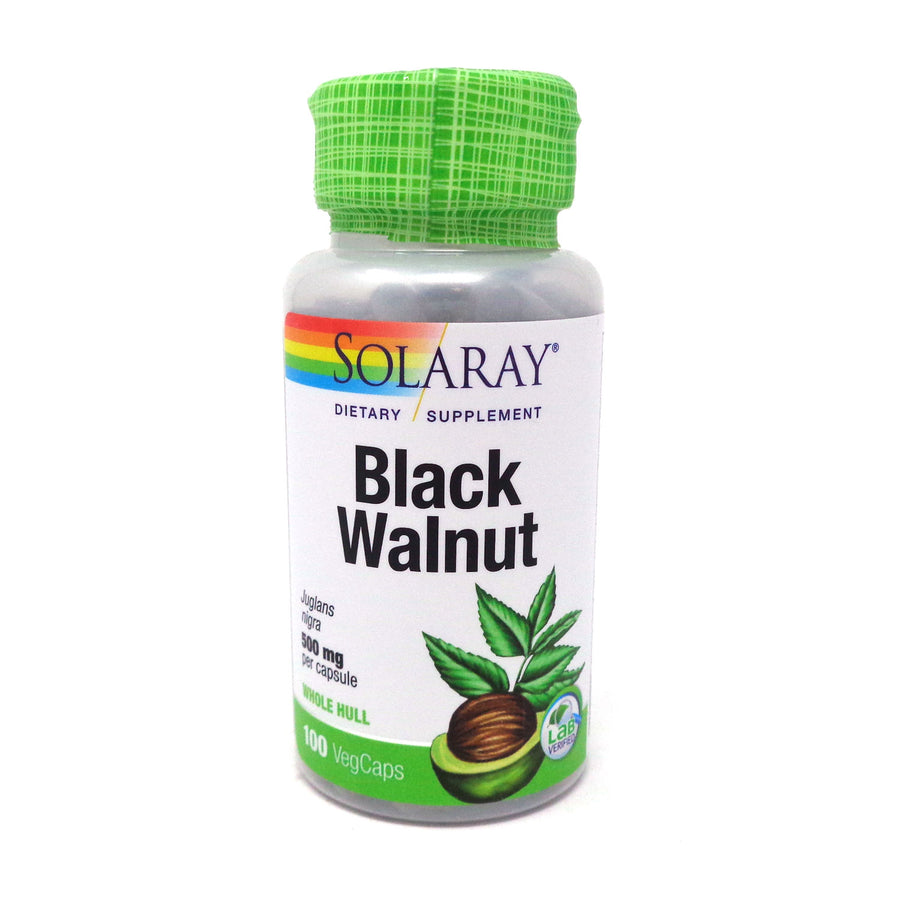 Black Walnut Hull 500 mg By Solaray - 100  Capsules