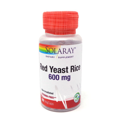 Red Yeast Rice 600 mg By Solaray - 90 Vegetable Caps