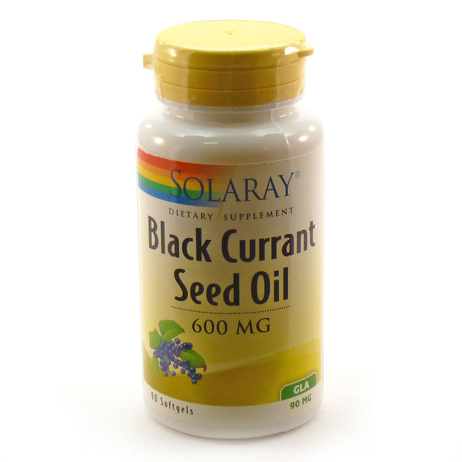 Hexane Free Black Currant Seed Oil GLA by Solaray - 90 Capsules