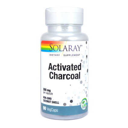 Activated Charcoal 280 mg By Solaray - 90 Capsules
