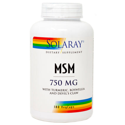 MSM 750 mg By Solaray - 180 Capsules