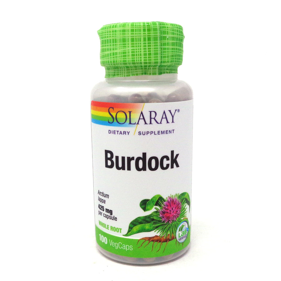 Burdock Root by Solaray - 100 Capsules