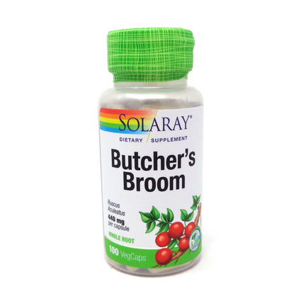 Butcher's Broom 440 mg By Solaray - 100  Capsules