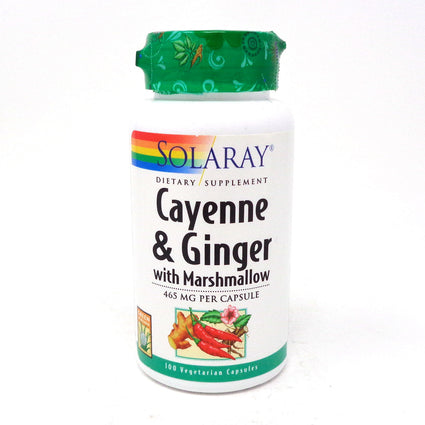 Cayenne & Ginger 465 mg By Solaray - 100  Capsules