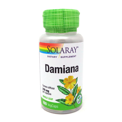 Damiana Leaves 370 mg By Solaray - 100  Capsules