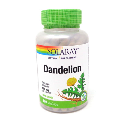 Dandelion Root 520 mg By Solaray - 180  Capsules