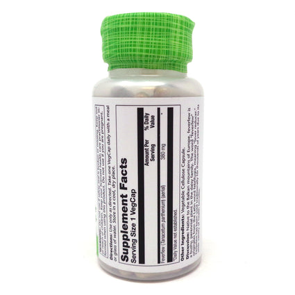 Feverfew Leaves 380 mg By Solaray - 100  Capsules