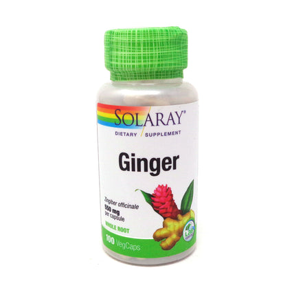 Ginger Root 550 mg By Solaray - 100  Capsules