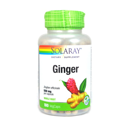 Ginger Root 550 mg By Solaray - 180  Capsules