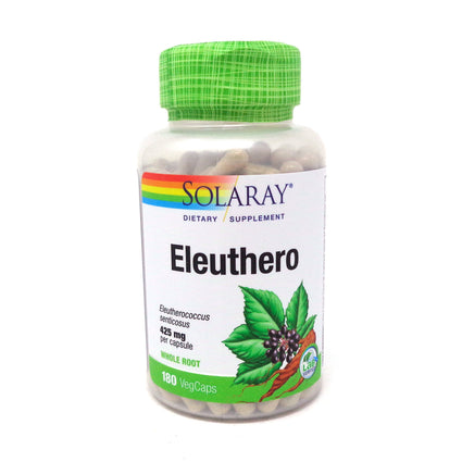 Eleuthero 425 mg By Solaray - 180 Capsules