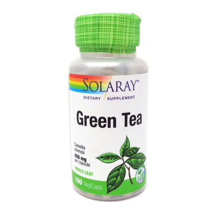 Green Tea 450 mg By Solaray - 100  Capsules