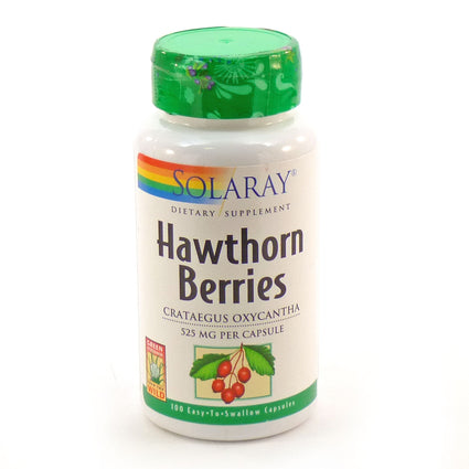 Hawthorn Berries 525 mg By Solaray - 100  Capsules
