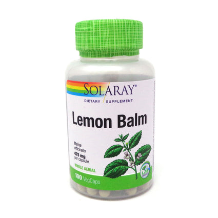 Lemon Balm by Solaray - 100 Capsules
