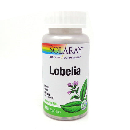 Lobelia 50 mg By Solaray - 100  Capsules