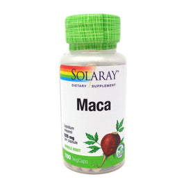 Maca Root 525 mg By Solaray - 100 Capsules