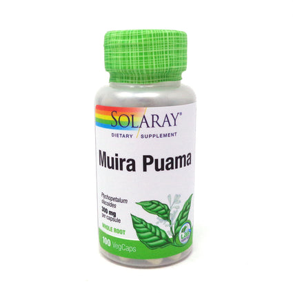 Muira Puama Root 300 mg By Solaray - 100  Capsules