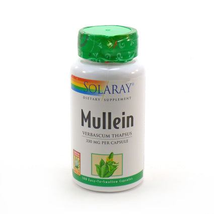 Mullein Leaves 330 mg By Solaray - 100  Capsules