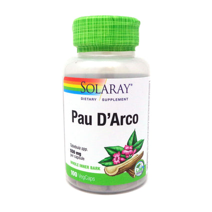 Pau D'Arco Inner Bark 510 mg By Solaray - 100 Capsules