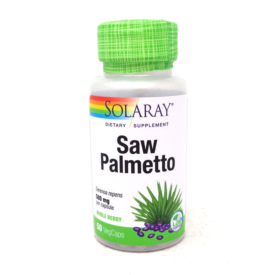 Saw Palmetto Berries 580 mg By Solaray - 50  Capsules