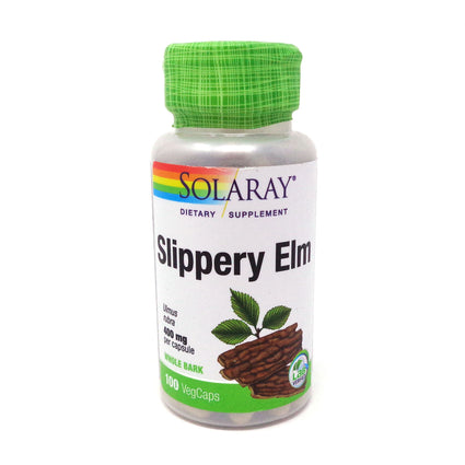 Slippery Elm Bark 400 mg By Solaray - 100  Capsules